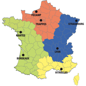 Carte de l'implantation de nos agences en France
